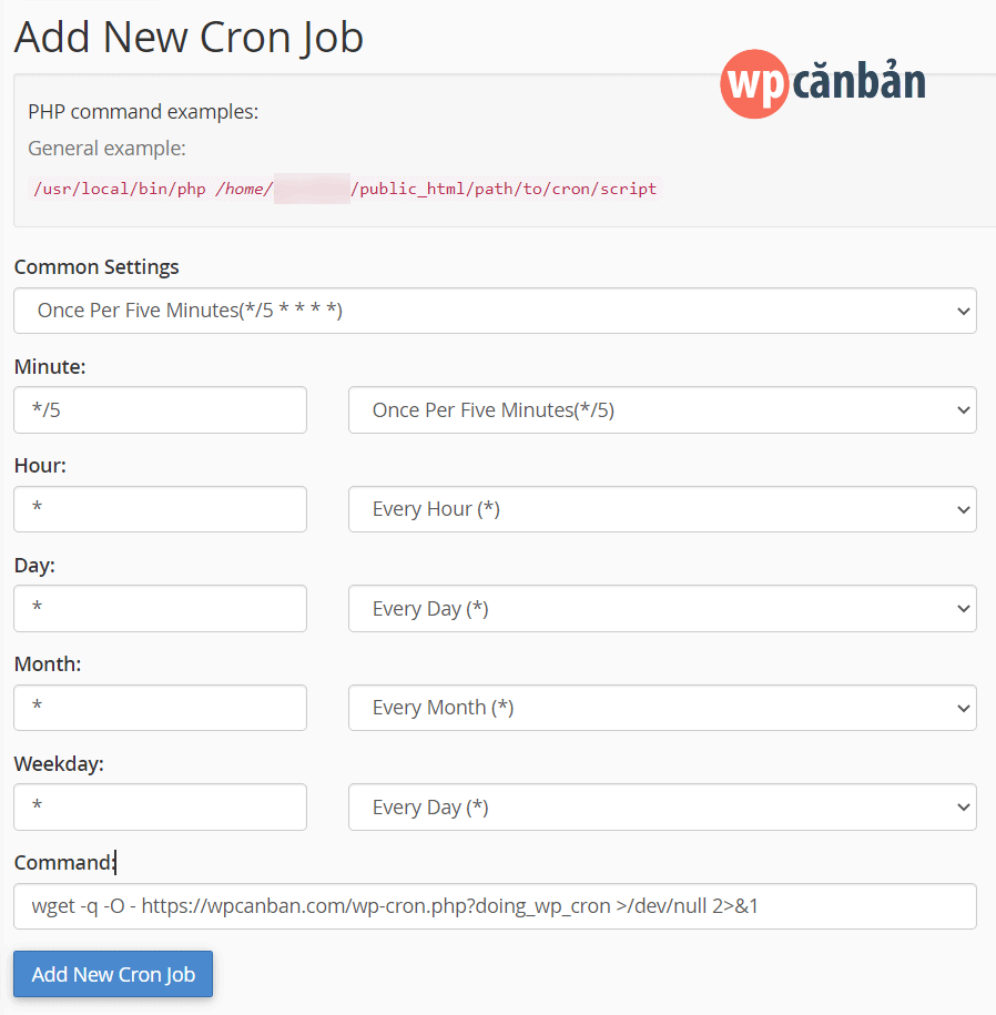 add-new-cron-job-cpanel