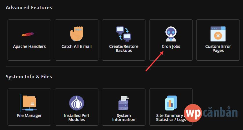 click-vao-muc-cron-jobs-trong-directadmin