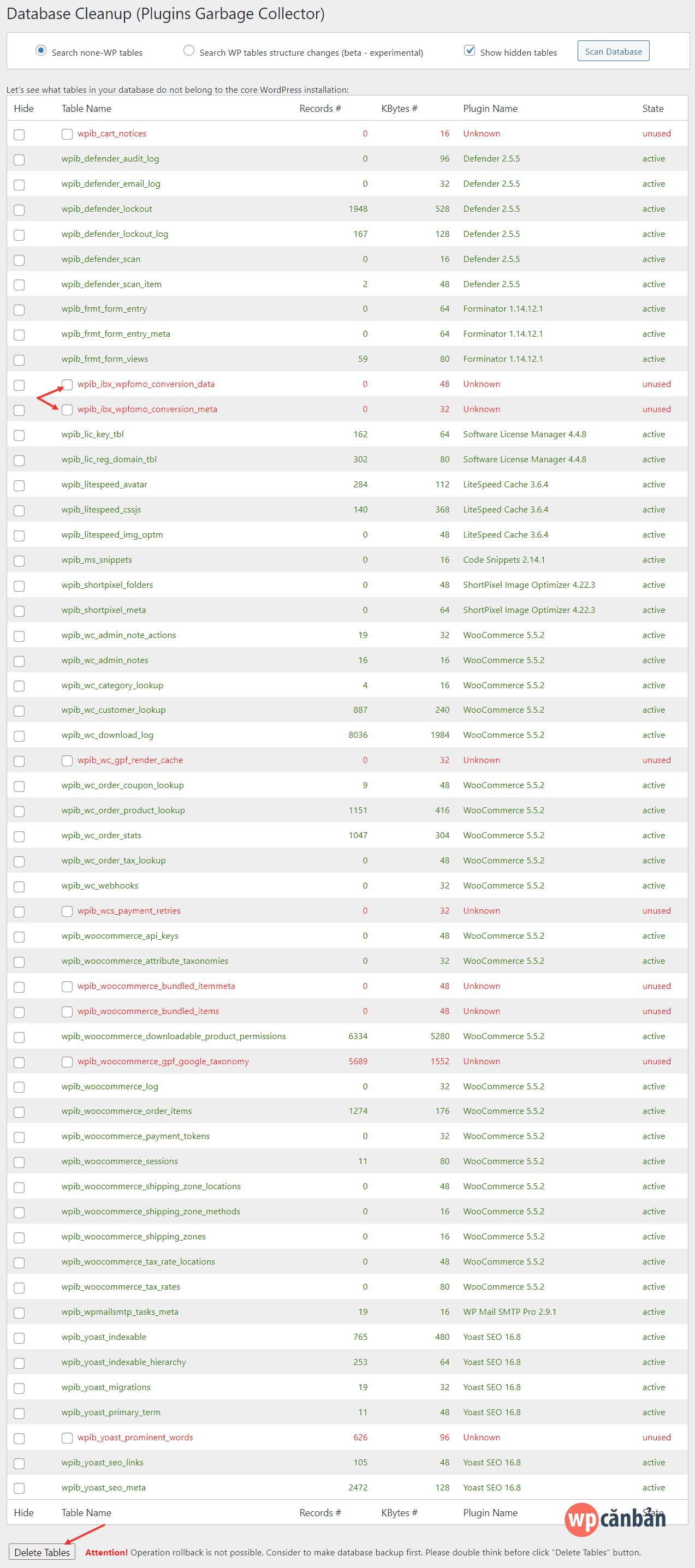 xoa-table-khong-dung-bang-plugin-plugins-garbage-collector