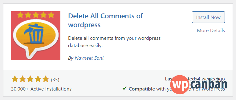 cai-dat-va-kich-hoat-plugin-delete-all-comments-of-wordpress